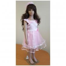 Rožinė šventinė suknelė