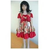 Suknelė raudona šventinė su švarkeliu