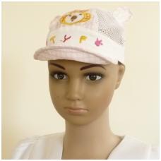 """Vaikiška vasarinė kepurė su ausytėm """"TYF"""""""