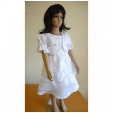 Balta šventinė suknelė su švarkeliu