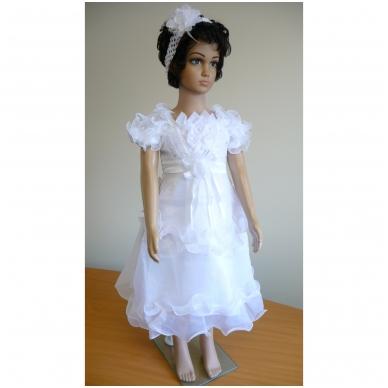 Balta šventinė suknelė