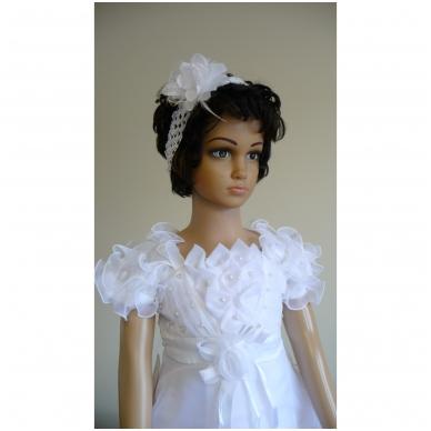 Balta šventinė suknelė 2