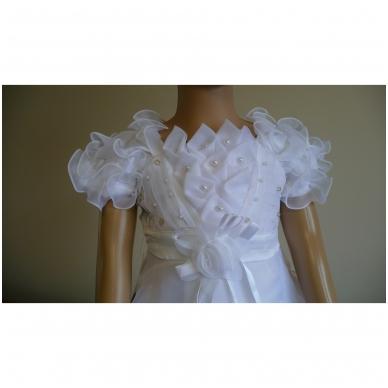 Balta šventinė suknelė 3