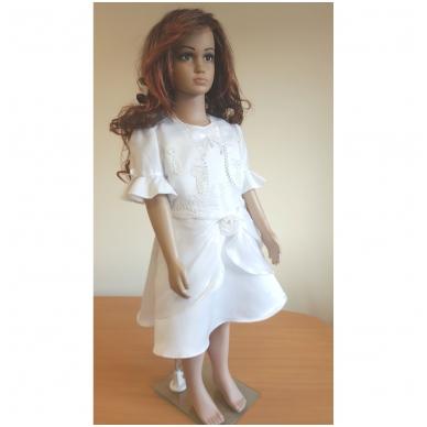 Balta šventinė suknelė 4