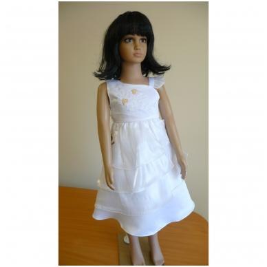 Balta šventinė suknelė su švarkeliu 2
