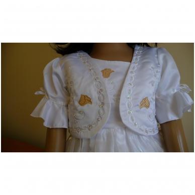 Balta šventinė suknelė su švarkeliu 3