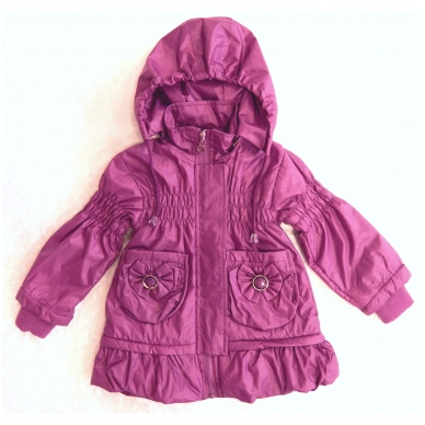 Madinga vaikiška striukė-paltukas mergaitėms 2