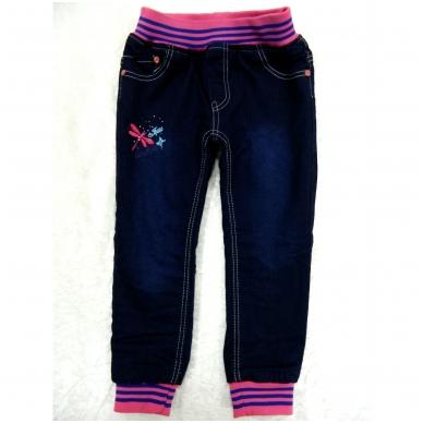 Pašiltinti džinsai mergaitėms