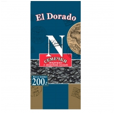 Skrudintos saulėgražų sėklos El Dorado su jūros druska 200 gr.