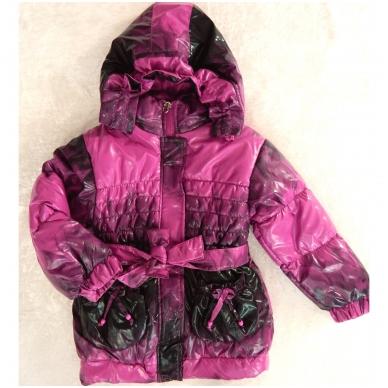 Vaikiška demisezoninė striukė-paltukas mergaitei 4