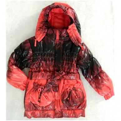 Vaikiška demisezoninė striukė-paltukas mergaitei