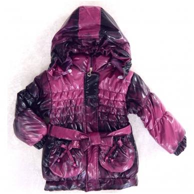 Vaikiška demisezoninė striukė-paltukas mergaitei 2